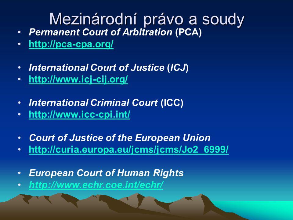Mezinárodní právo a soudy