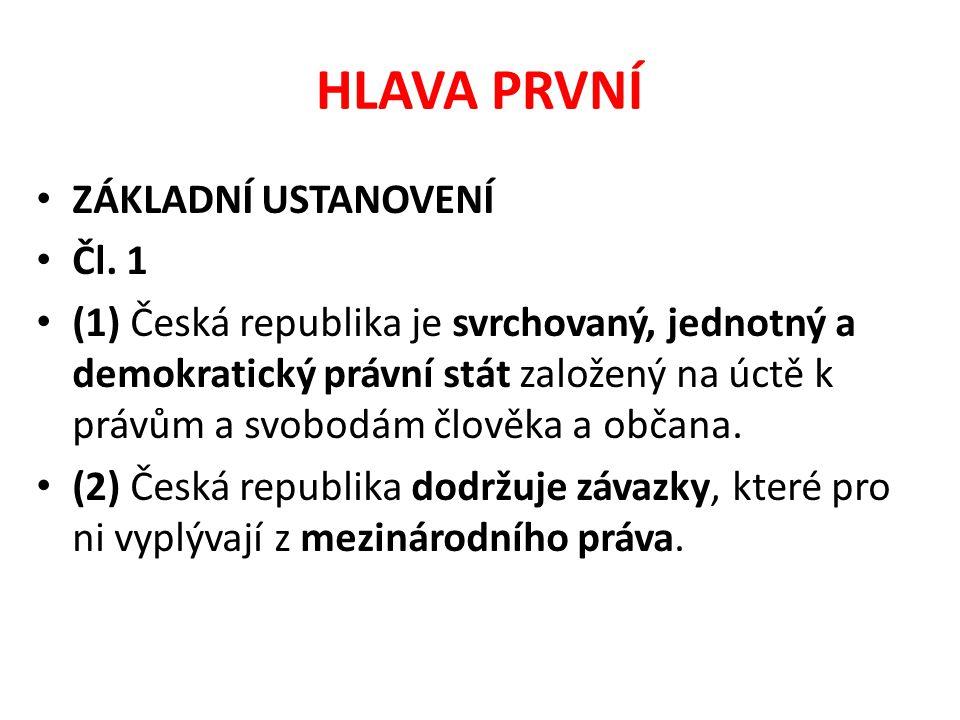 HLAVA PRVNÍ ZÁKLADNÍ USTANOVENÍ Čl. 1