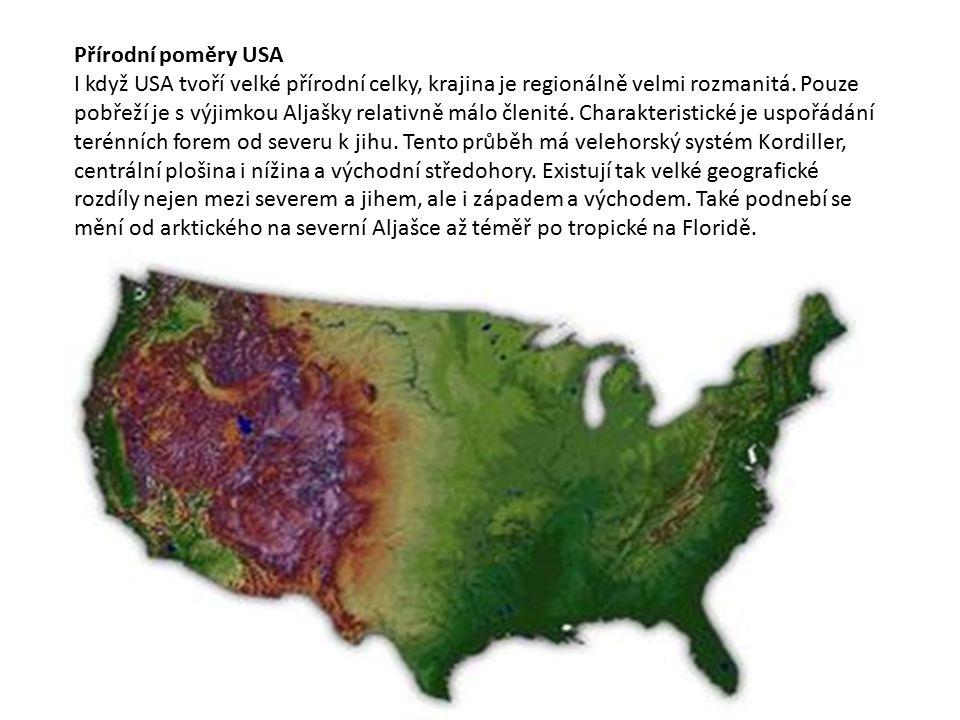 Přírodní poměry USA