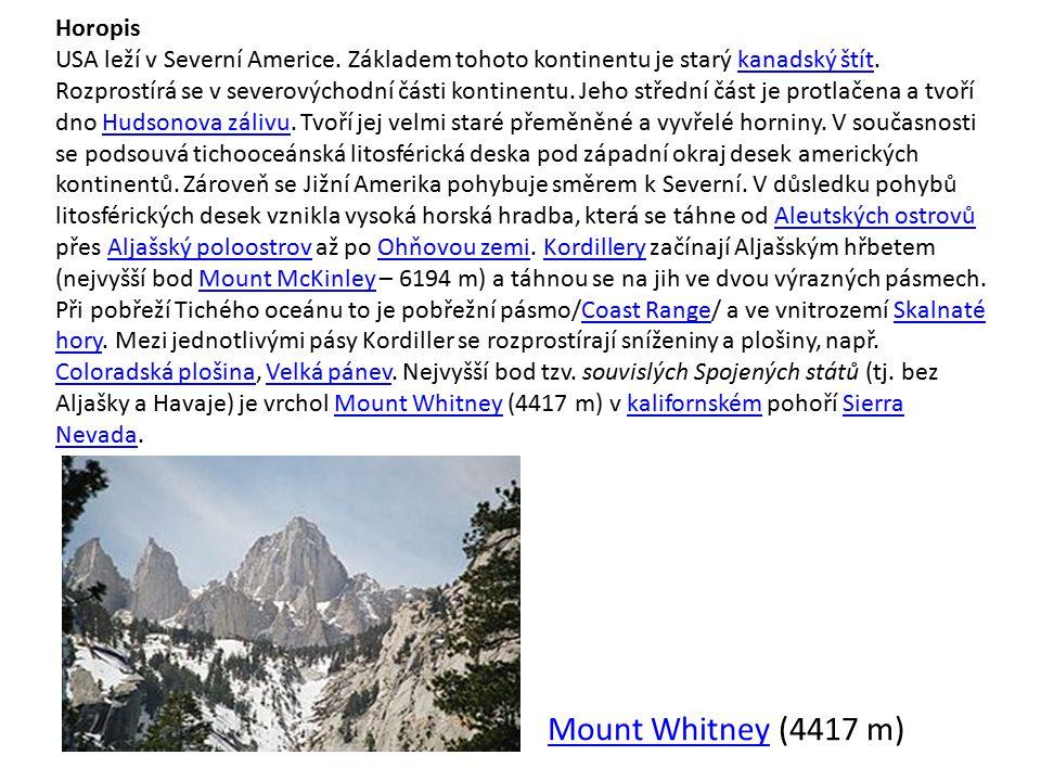 Mount Whitney (4417 m) Horopis