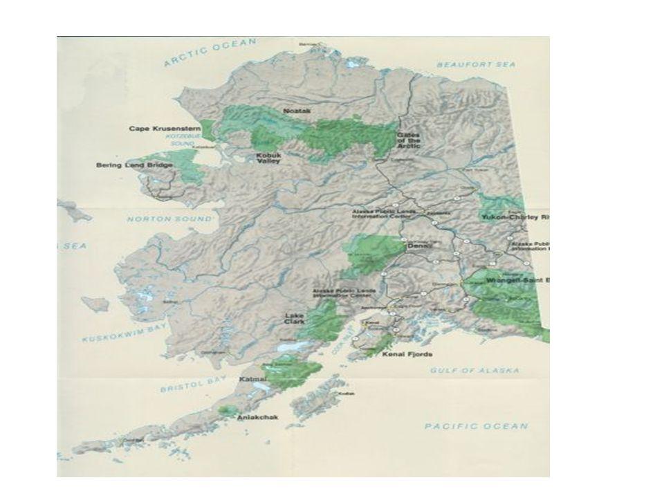 Aljaška mapa,chráněná území