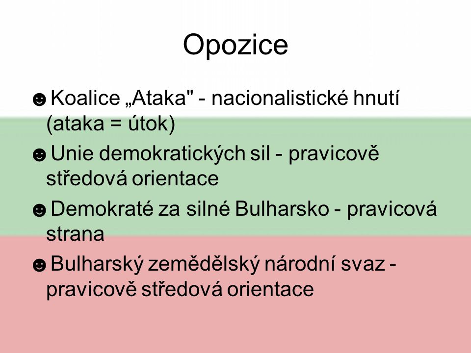 """Opozice Koalice """"Ataka - nacionalistické hnutí (ataka = útok)"""