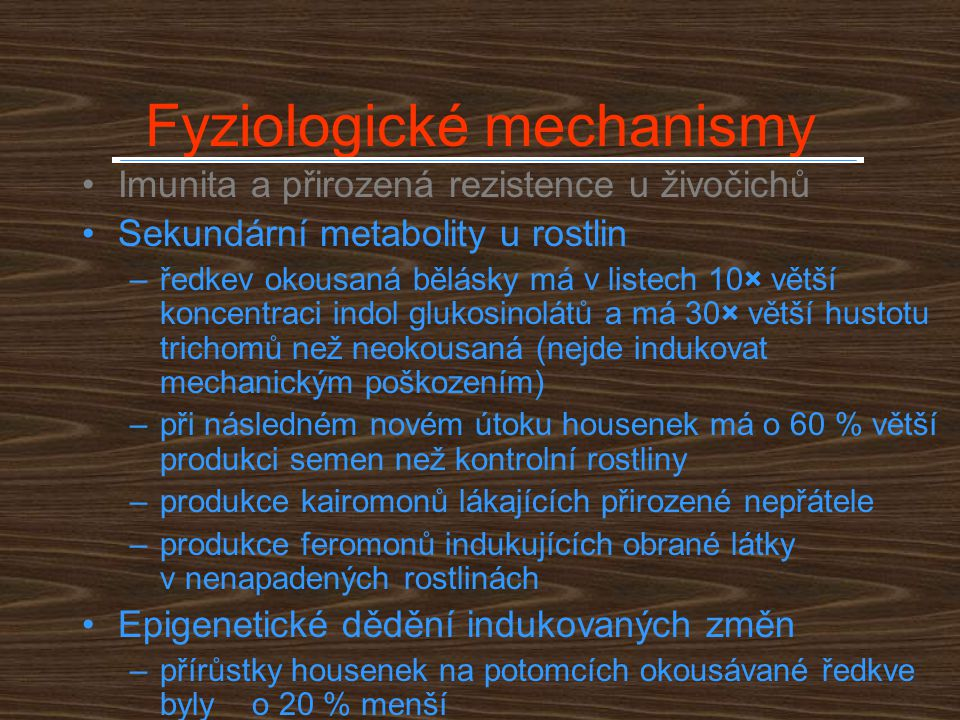 Fyziologické mechanismy