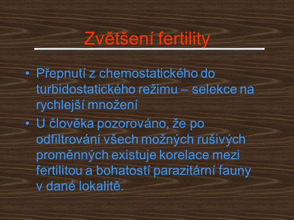 Zvětšení fertility Přepnutí z chemostatického do turbidostatického režimu – selekce na rychlejší množení.