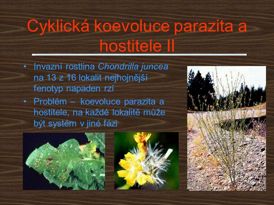 Cyklická koevoluce parazita a hostitele II