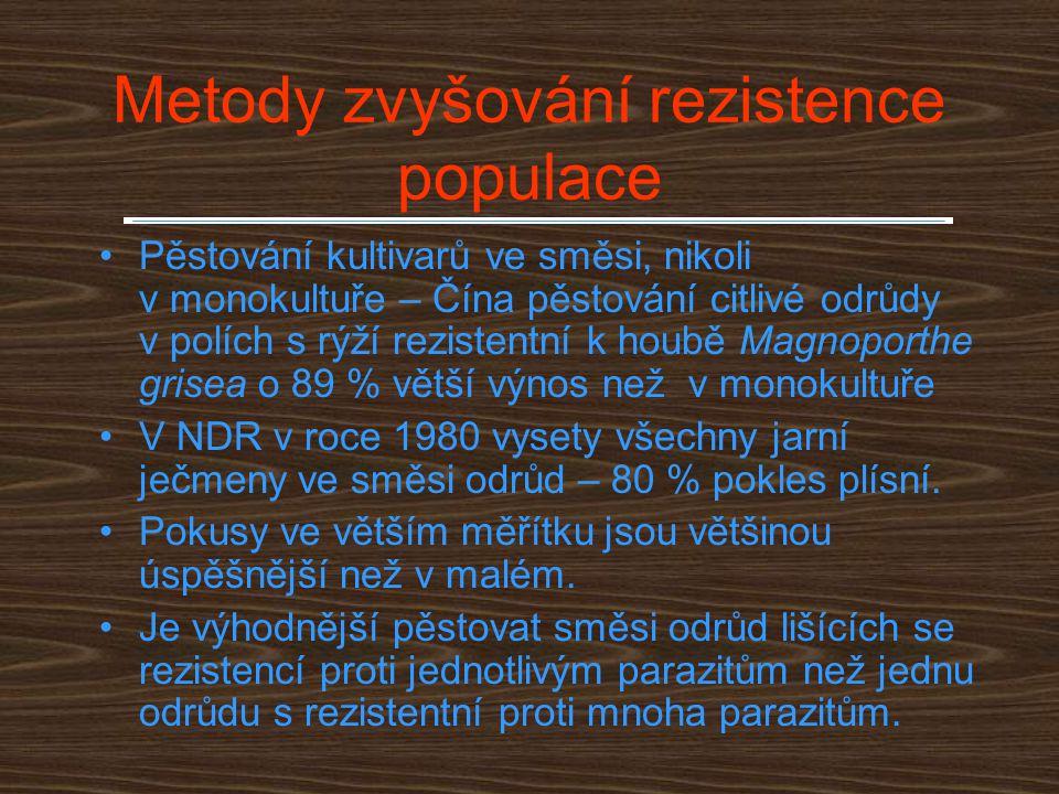 Metody zvyšování rezistence populace
