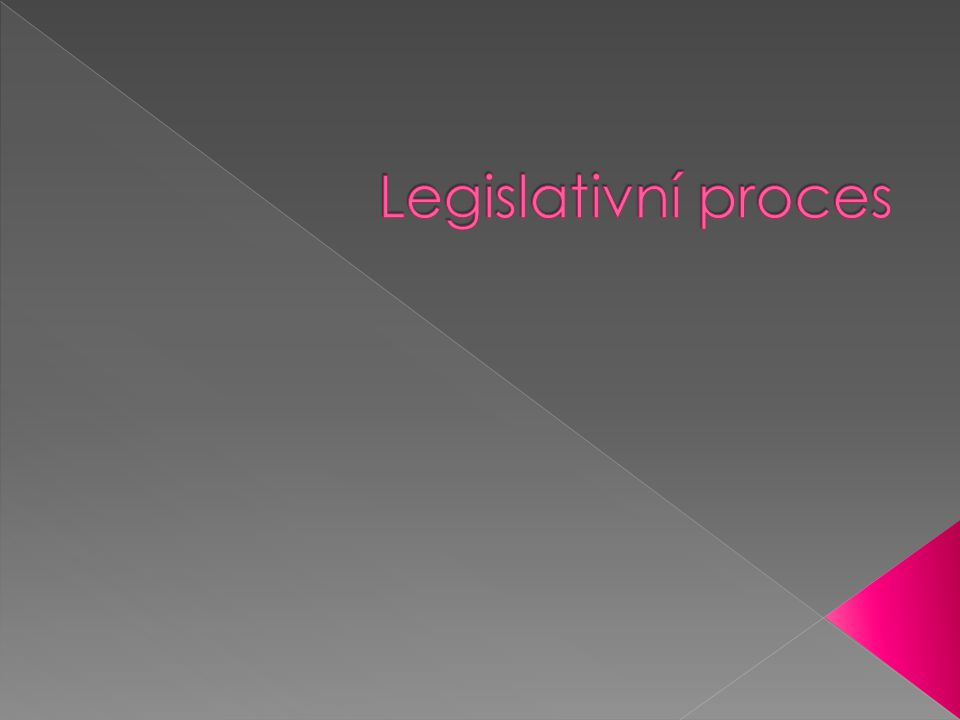 Legislativní proces