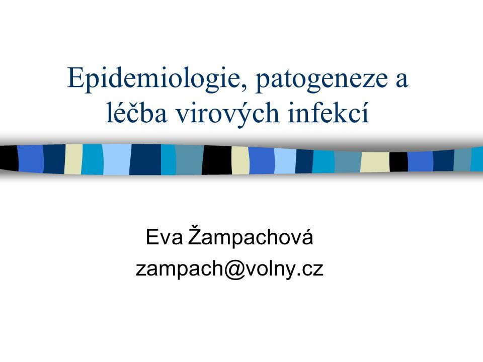 Epidemiologie, patogeneze a léčba virových infekcí