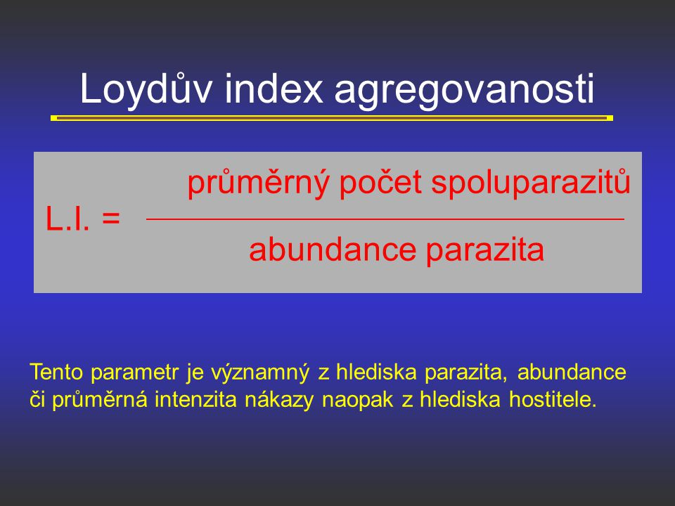 Loydův index agregovanosti