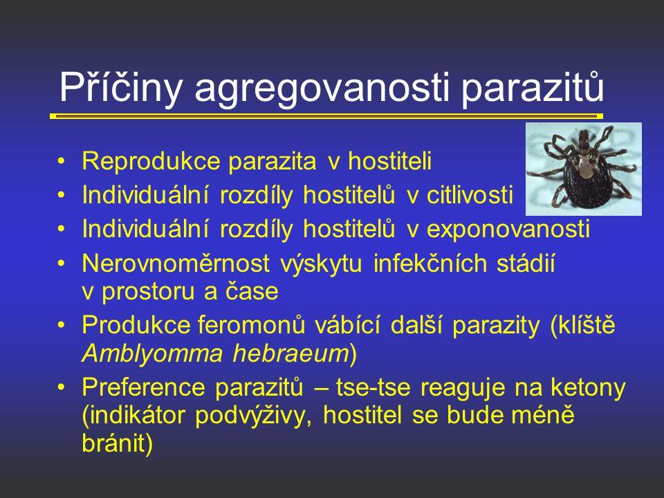Příčiny agregovanosti parazitů