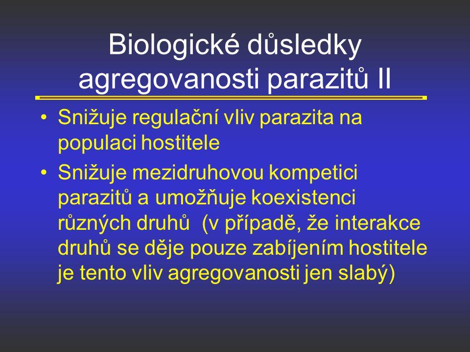Biologické důsledky agregovanosti parazitů II