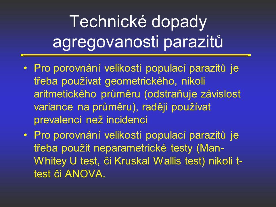 Technické dopady agregovanosti parazitů