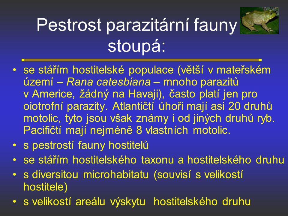 Pestrost parazitární fauny stoupá: