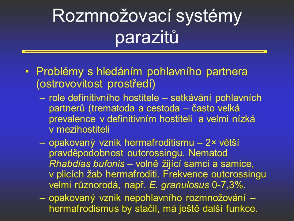 Rozmnožovací systémy parazitů
