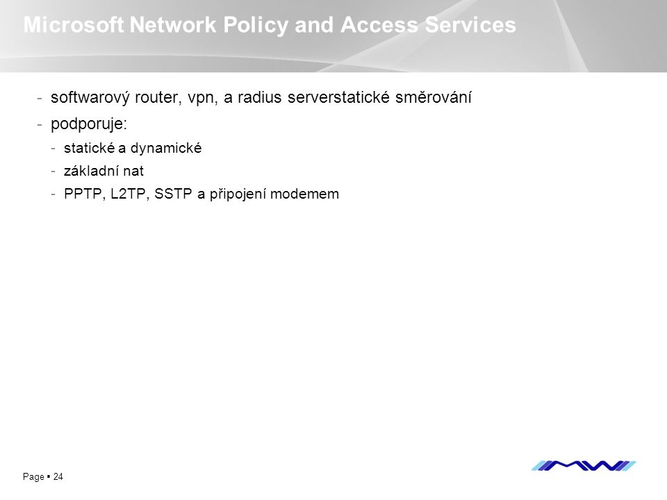 Microsoft Network Policy and Access Services