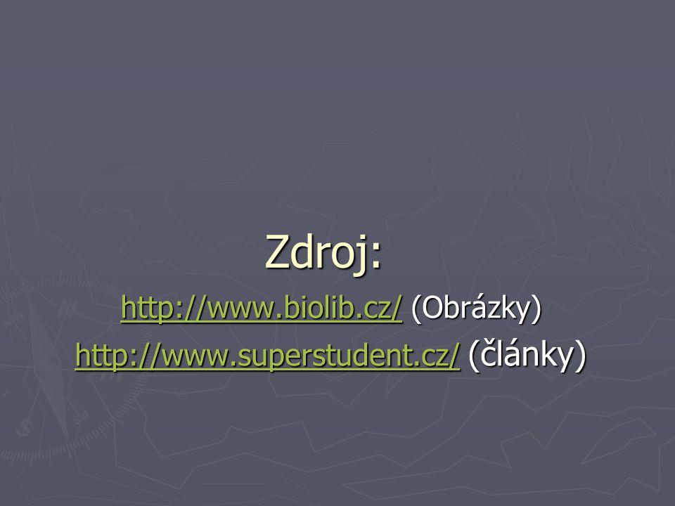http://www.biolib.cz/ (Obrázky) http://www.superstudent.cz/ (články)