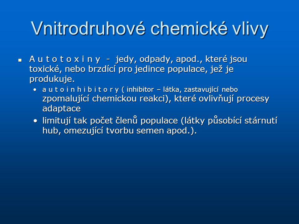 Vnitrodruhové chemické vlivy