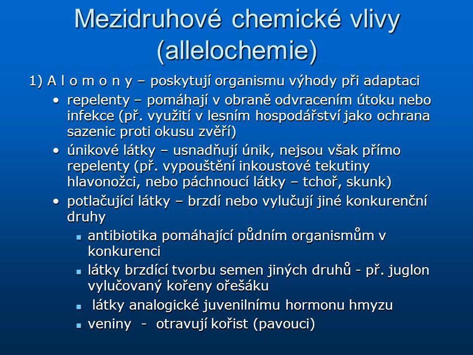 Mezidruhové chemické vlivy (allelochemie)