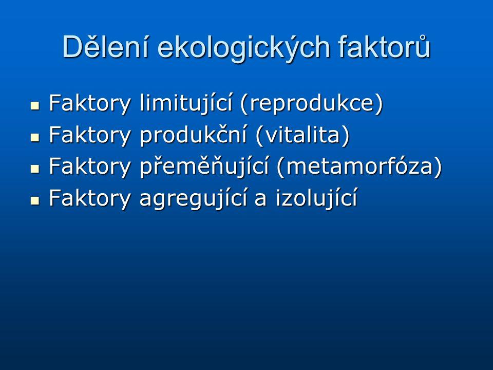 Dělení ekologických faktorů