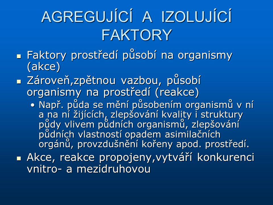 AGREGUJÍCÍ A IZOLUJÍCÍ FAKTORY