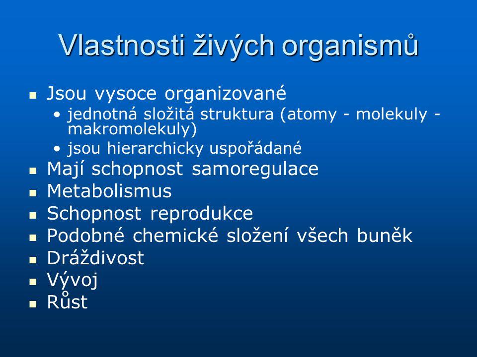 Vlastnosti živých organismů