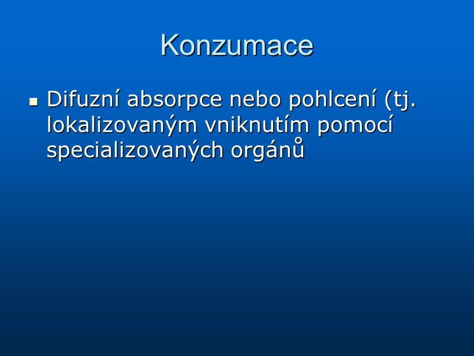 Konzumace Difuzní absorpce nebo pohlcení (tj.