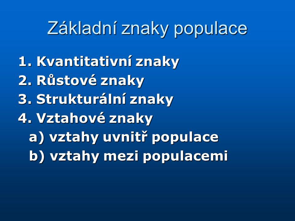 Základní znaky populace