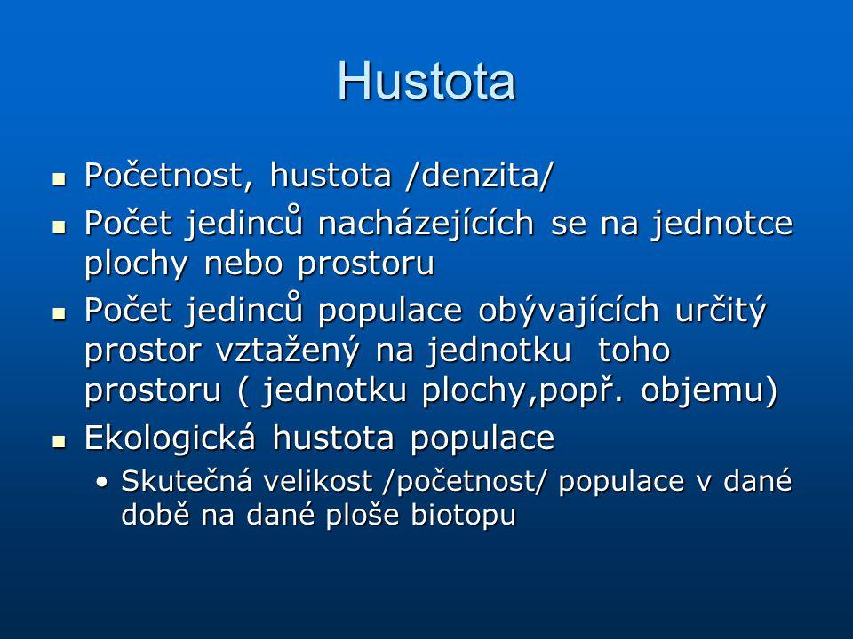 Hustota Početnost, hustota /denzita/