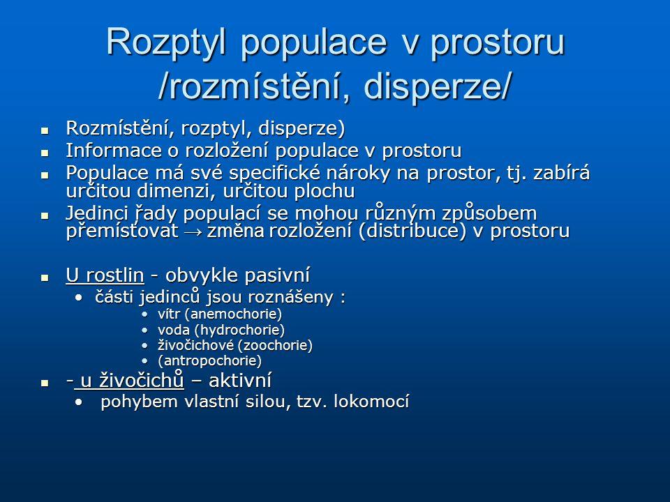 Rozptyl populace v prostoru /rozmístění, disperze/