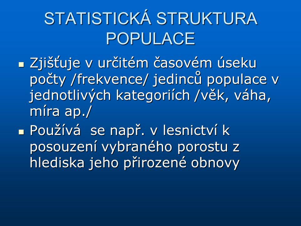 STATISTICKÁ STRUKTURA POPULACE