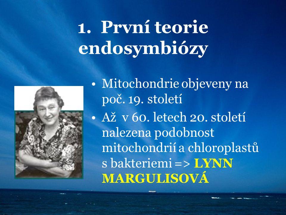 1. První teorie endosymbiózy