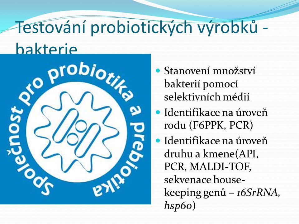 Testování probiotických výrobků - bakterie