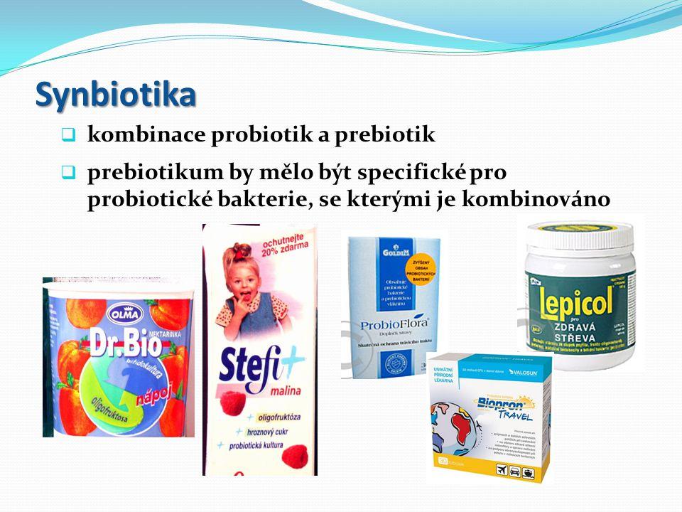 Synbiotika kombinace probiotik a prebiotik