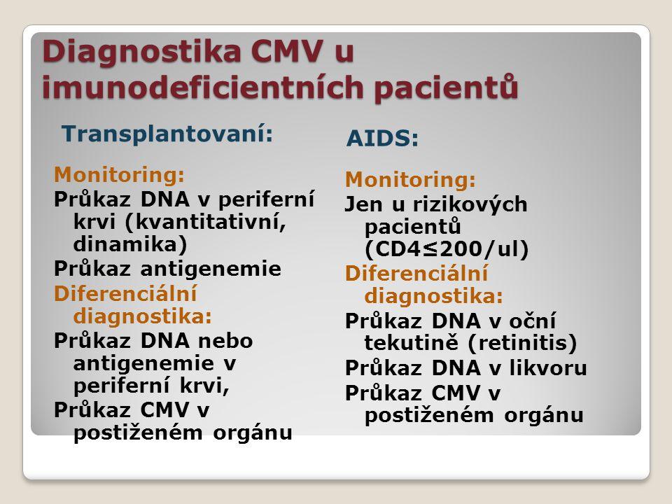 Diagnostika CMV u imunodeficientních pacientů