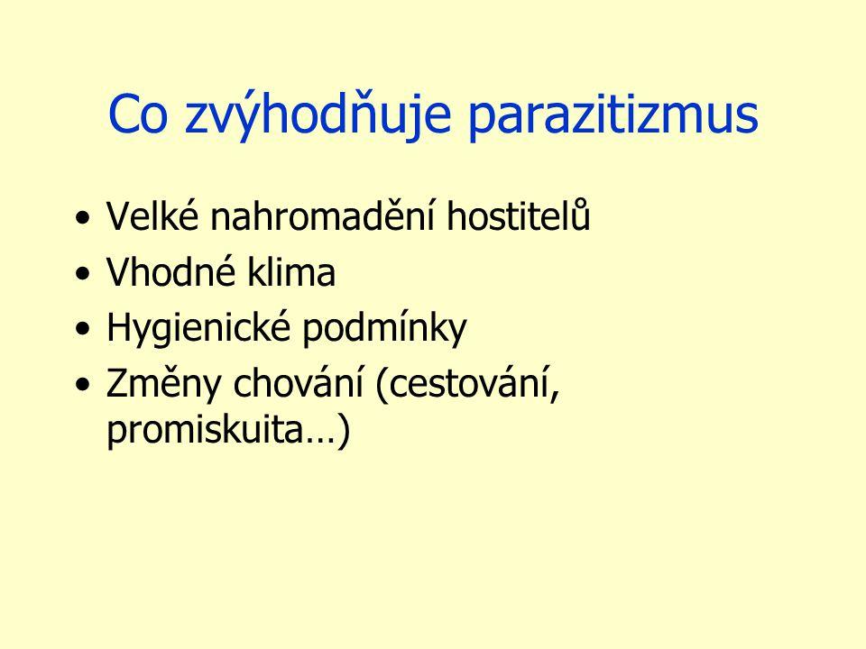 Co zvýhodňuje parazitizmus