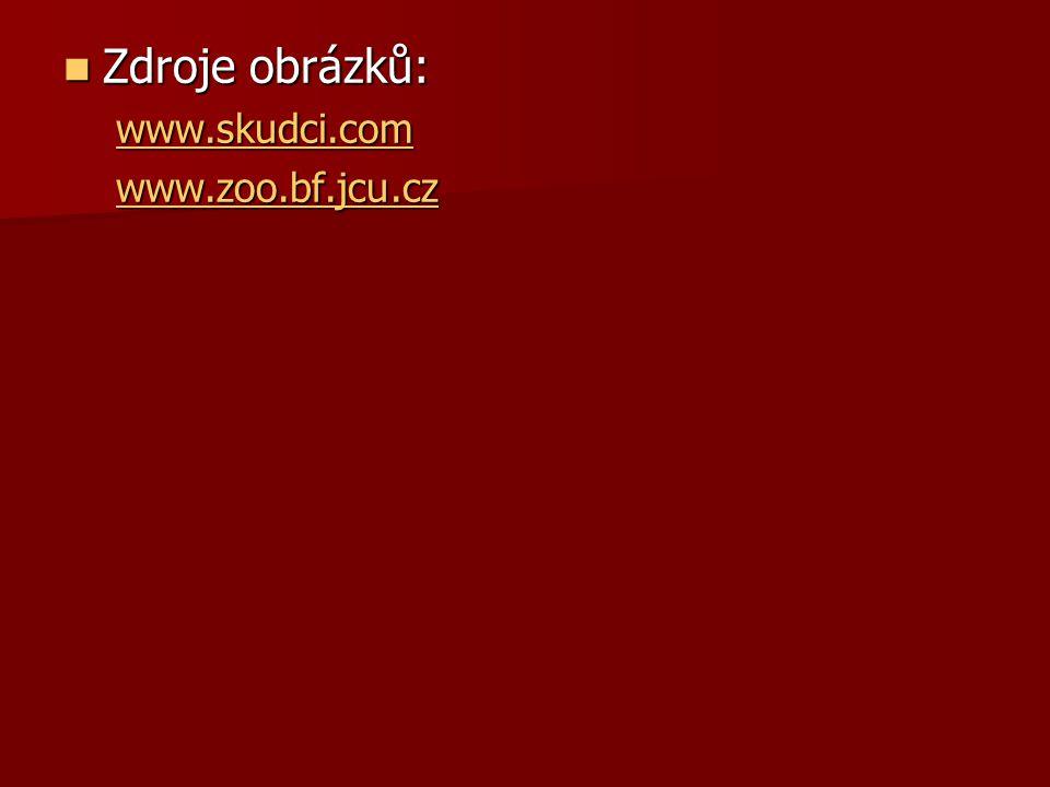 Zdroje obrázků: www.skudci.com www.zoo.bf.jcu.cz