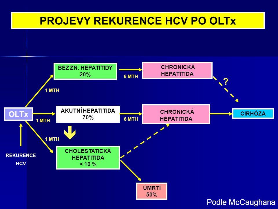 PROJEVY REKURENCE HCV PO OLTx CHOLESTATICKÁ HEPATITIDA
