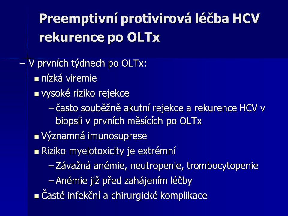 Preemptivní protivirová léčba HCV rekurence po OLTx