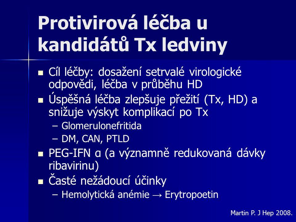 Protivirová léčba u kandidátů Tx ledviny