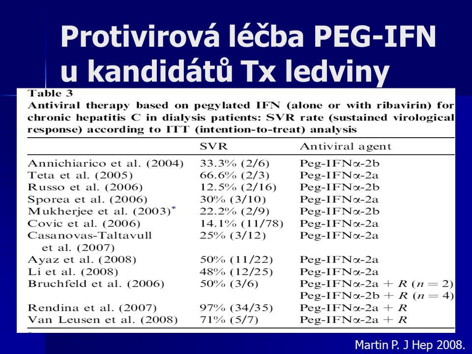 Protivirová léčba PEG-IFN u kandidátů Tx ledviny