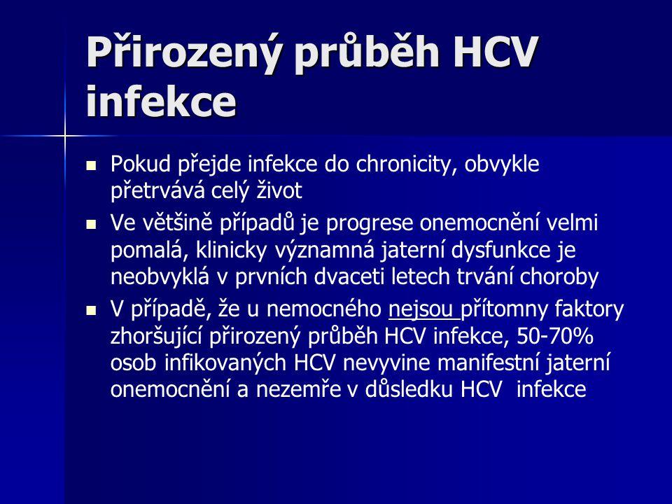 Přirozený průběh HCV infekce
