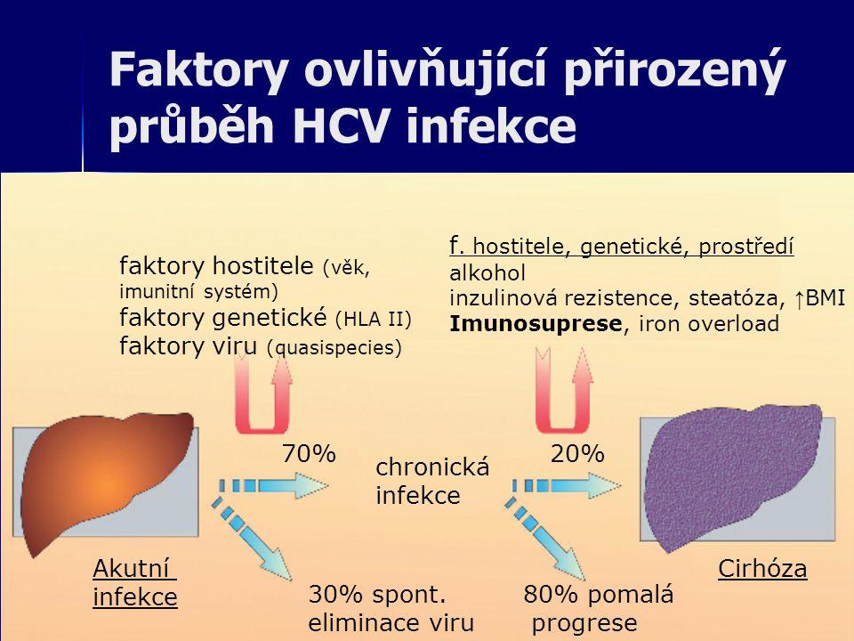 Faktory ovlivňující přirozený průběh HCV infekce