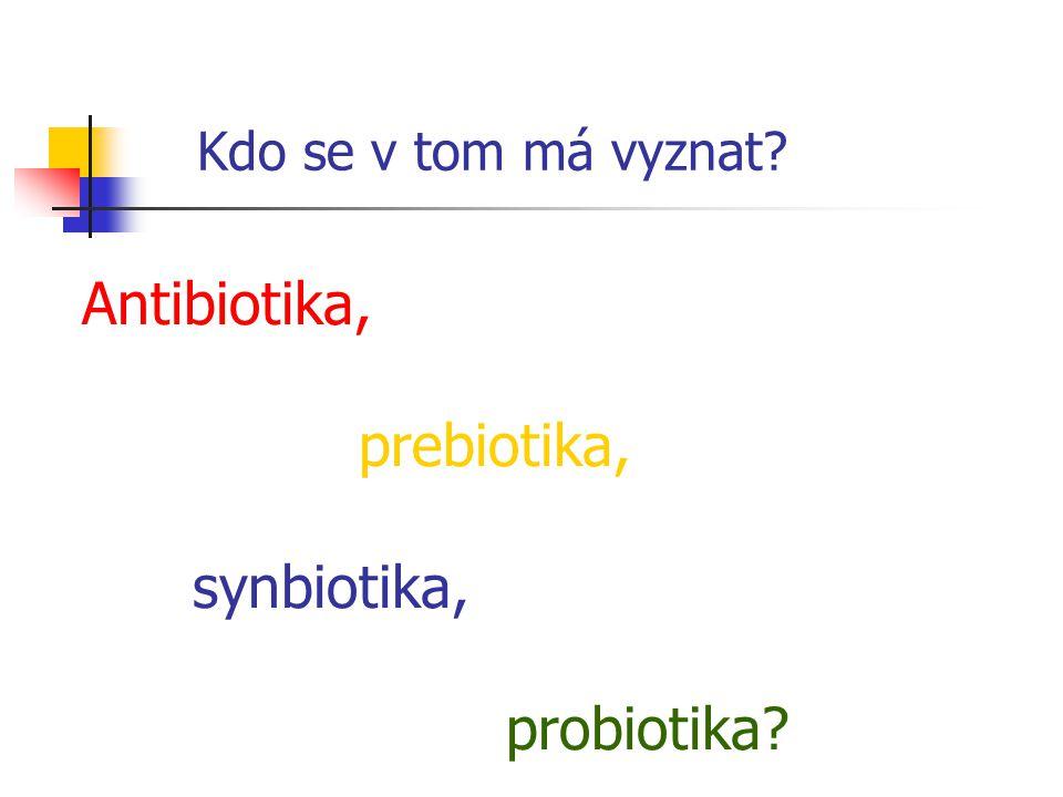 Kdo se v tom má vyznat Antibiotika, prebiotika, synbiotika,