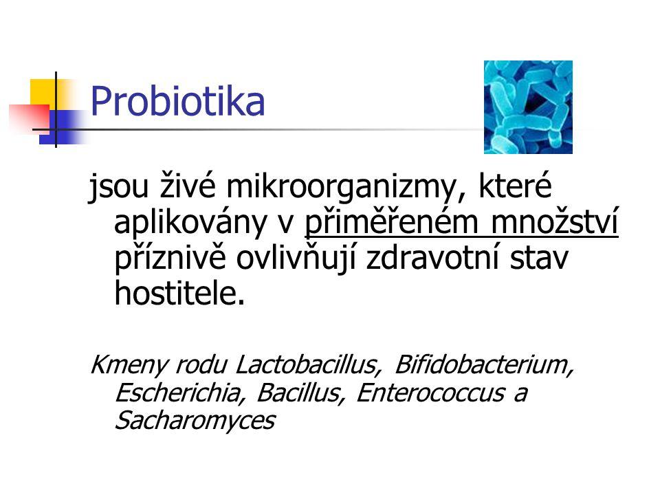 Probiotika jsou živé mikroorganizmy, které aplikovány v přiměřeném množství příznivě ovlivňují zdravotní stav hostitele.