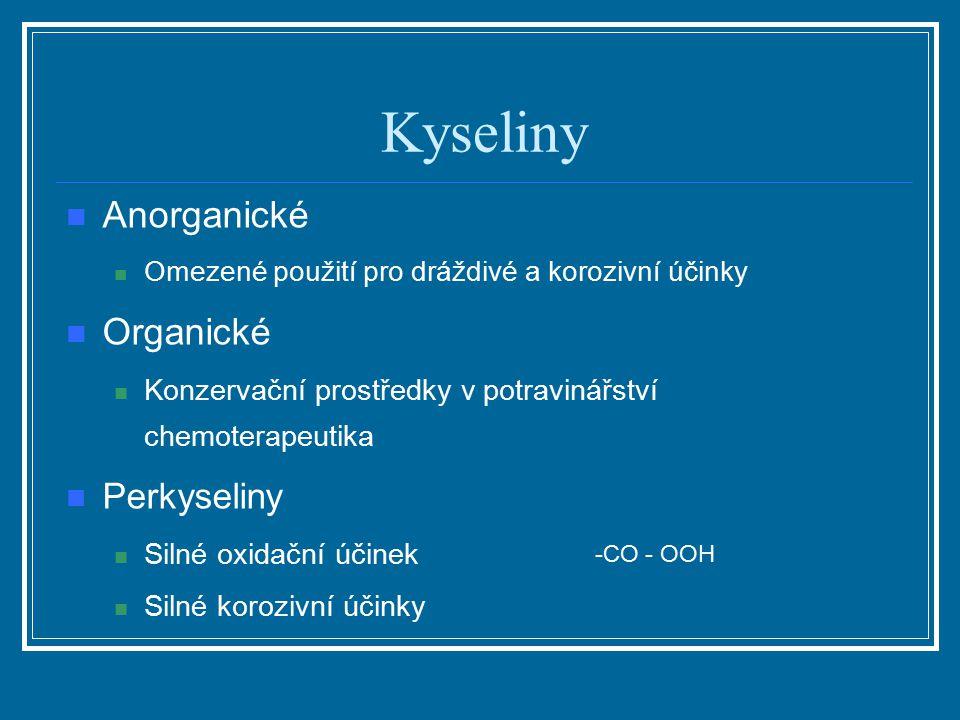 Kyseliny Anorganické Organické Perkyseliny