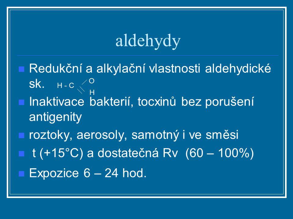 aldehydy Redukční a alkylační vlastnosti aldehydické sk.