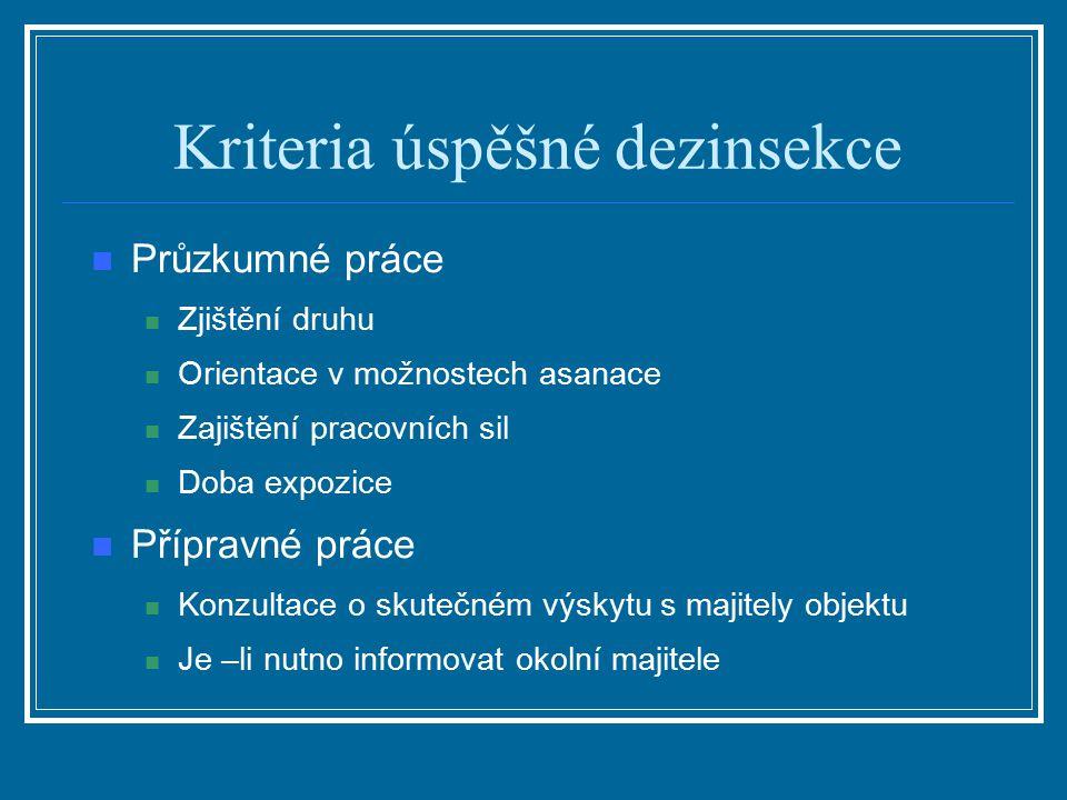 Kriteria úspěšné dezinsekce