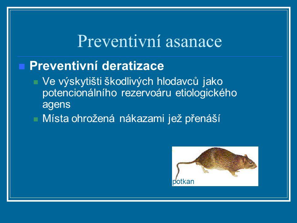 Preventivní asanace Preventivní deratizace