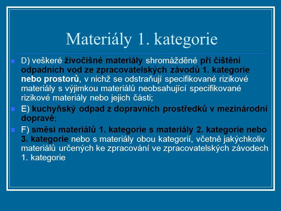 Materiály 1. kategorie