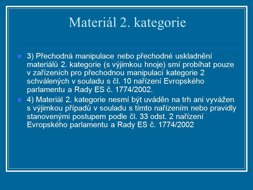 Materiál 2. kategorie